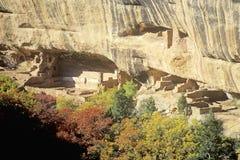 Moradias em Mesa Verde National Park, Colorado Fotografia de Stock