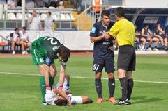 Moraes duwde de tegenstander aan de grond royalty-vrije stock afbeelding
