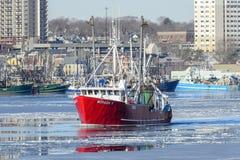 Moragh K opuszcza port Zdjęcie Stock