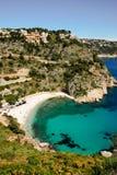 Moraig beach. Small beach in mediterranean coast Royalty Free Stock Photography
