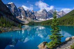 Morain湖 库存图片