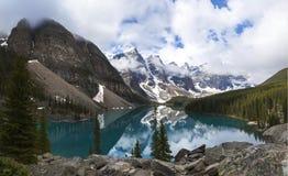 Moraine湖,班夫国家公园,亚伯大,加拿大 免版税库存图片