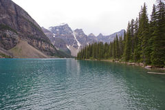 Moraine湖,班夫,亚伯大,加拿大 库存照片