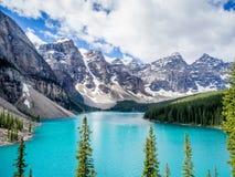 Moraine湖, Banff 图库摄影
