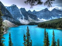 moraine λιμνών του Καναδά Στοκ φωτογραφία με δικαίωμα ελεύθερης χρήσης
