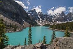moraine λιμνών του Καναδά Στοκ Εικόνα