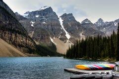moraine λιμνών φυσικό στοκ φωτογραφίες