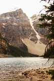 Moraine Banff do lago, Alberta foto de stock