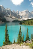 Moraine Canada del lago Fotografia Stock