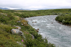 Moraine Creek, Alaska. Stock Photo