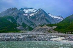 Moraine creek in Glacier Bay National Park. Stock Image