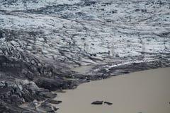 Moraine de glacier de Skaftafellsjokull, Islande Images stock