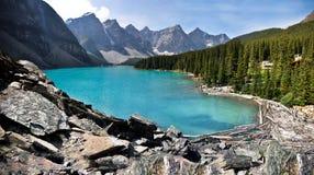 Moraine de lac Photographie stock libre de droits