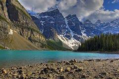 Moraine de lac Photos stock