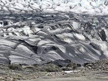 Moraine 2017 del ghiacciaio dell'Islanda Skaftafellsjokull Fotografie Stock