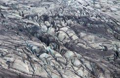 Moraine del glaciar de Skaftafellsjokull, parque nacional de Skaftafell, Islandia fotos de archivo