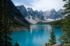 Moraine del lago Fotografia Stock Libera da Diritti