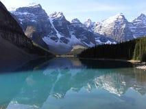 moraine del lago Fotografia Stock