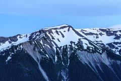 Moraine di Emmons, Mt Rainier National Park fotografie stock libere da diritti