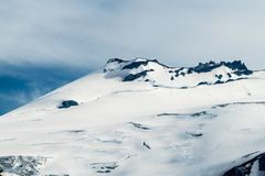 Moraine di Emmons, Mt Rainier National Park immagine stock