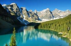 Moraine do lago Imagens de Stock
