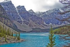 Moraine do lago - Banff Fotos de Stock Royalty Free