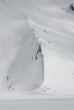 Moraine en el invierno Fotografía de archivo libre de regalías
