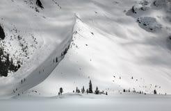 Moraine en el invierno Imagenes de archivo