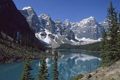 Moraine Lake. In the famous Banff National Park, Valley of Ten Peaks near Lake Louise, Alberta, Canada Royalty Free Stock Image