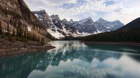 Moraine Lake. Located near Lake Louise in Banff National Park, Alberta, Canada Royalty Free Stock Image
