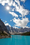 Moraine Lake. Beautiful Moraine Lake in the Valley of the Ten Peaks in Banff National Park, Canadian Rockies Stock Images