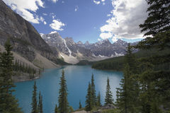 Moraine lake Stock Photo