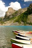 Moraine lake. In the Rocky Mountains, Canada Royalty Free Stock Photos