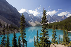 Moraine Lake. Banff National Park, Alberta, Canada Royalty Free Stock Photography