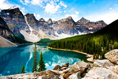Moraine Lake arkivfoton