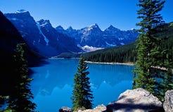 Moraine lake. A glacier lake in Canadians Rockies Stock Image