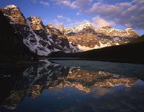 Moraine Lake. With mountain reflections Stock Images