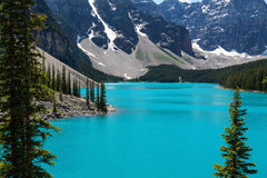 Moraine Lake in Alberta Canada Royalty Free Stock Photos