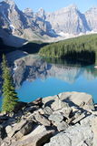 Moraine lake alberta canada Stock Image