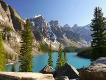 Moraine Lake - Alberta, Canada Stock Photo