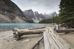 Moraine Lake, Banff, Alberta, Canada. Stock Photography