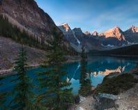 Moraine Lake Banff Alberta Stock Photos