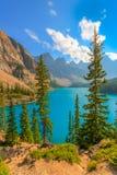 Moraine Lake Banff National Park. In Alberta Canada Royalty Free Stock Photography