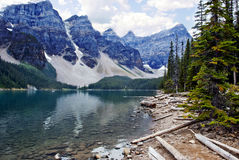 Moraine Lake, Banff National Park, Alberta, Canada Stock Images