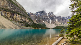 Moraine lake Banff National Park, Alberta, Canada. Royalty Free Stock Photography