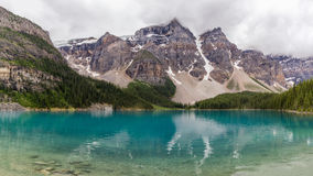 Moraine lake Banff National Park, Alberta, Canada. Royalty Free Stock Images