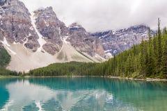 Moraine lake Banff National Park, Alberta, Canada. Stock Photo