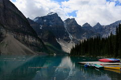 Moraine Lake. At Banff national park, Canada Stock Photo