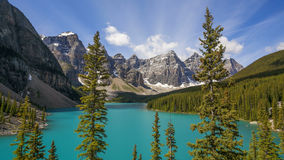 Moraine Lake in Banff National Park Royalty Free Stock Photos