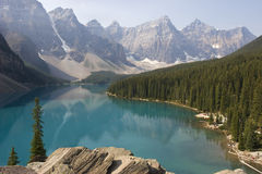 Moraine lake in Banff National Park, Canada Royalty Free Stock Photos